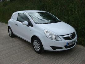 2008 08 Vauxhall Corsavan 1.3 CDTi 16v Corsa Van 1 Owner 62,000 Miles