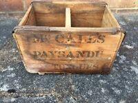 Vintage advertising wooden crate