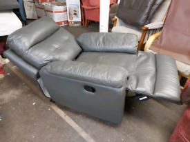 Recliner -Quality Extra Comfy Soft Dark Greyish Leather Manual Recline