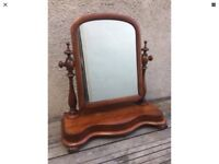 Large Vintage Edwardian possibly Victorian Style Mahogany Toilet / Swing Dressing Table Mirror