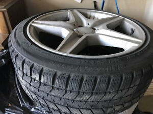 """New Blizzack winter tires 245/40R 18"""" and rims Audi bmw Infinit"""