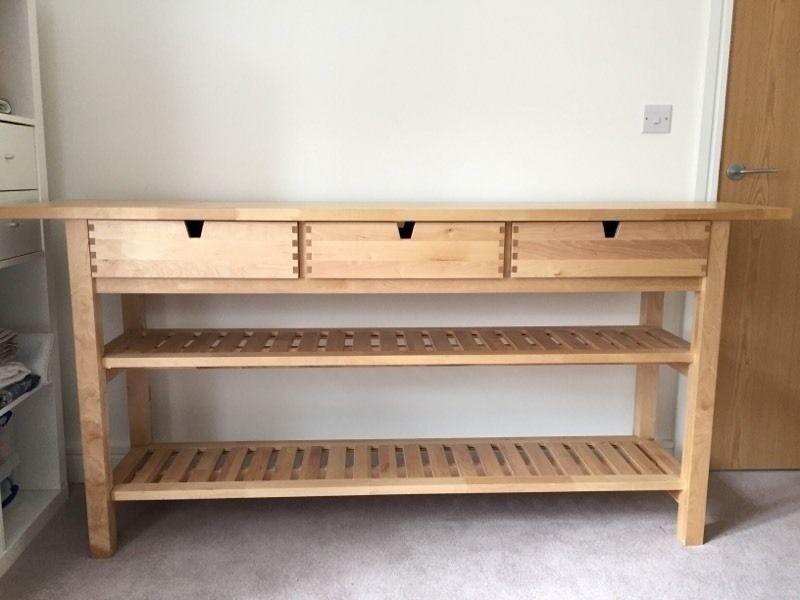 Ikea 3 Drawer Kitchen Island Butchers Block Bar Craft Studio Table