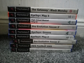 Ps2 games forsale