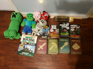 Minecraft toys and books Lot