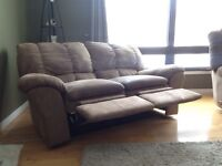 Couch and reclining love seat