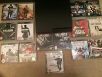 PlayStation3 250gb slim console with 15 games