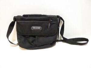 SMALL BLACK CANVAS PURSE WITH MIRROR BY JAGUAR - NEVER USED/MINT
