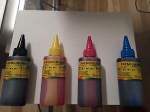 100ML x 4 refill dye ink for Canon, HP, Epson, Brother