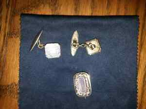 ANTIQUE PR OF CUFFLINKS and LAPPELL PIN $10.00