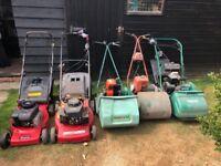 Job lot of Lawn Mowers