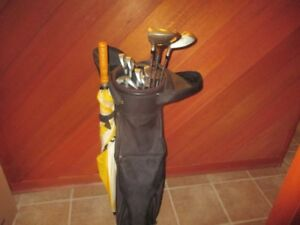 A set of Golf Clubs  with an Umbrella For Sale
