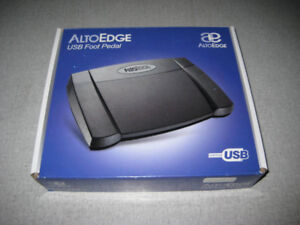 AltoEdge USB Transcription Foot Pedal Used Once LNIB