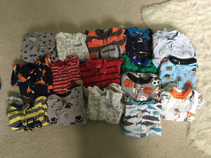 Large bag of boys 6-12 months clothing
