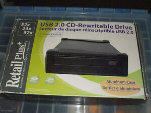 USB 2.0 CD-Rewritable External Drive - NIB - $25.00