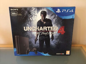 NEW PS4 Slim 500GB Console with Games and 2 Controllers!