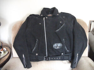black denin harley davidson  unisex motorcycle size medium