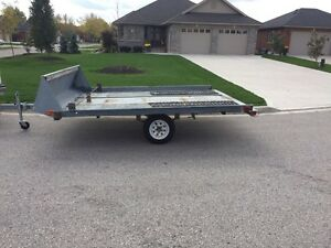 2 place snowmobile/ATV trailer