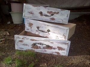 Wood Dresser Garden Pots