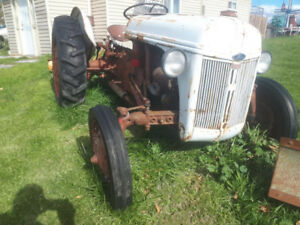 9n tractor with 7ft blade ( snow plow)! tons of new parts !