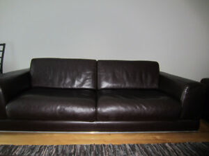 Set of 2 Sofas top grain cuir,No pet,No smoker,Germen Lariviere.