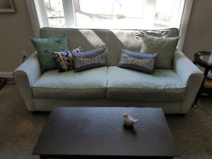☆☆☆ Light Blue Fabric Sofa Couch ☆☆☆