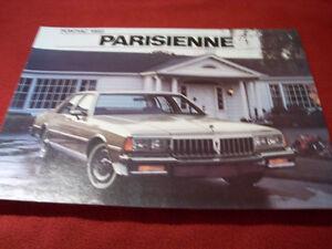 1982 Parisienne sales folder Peterborough Peterborough Area image 1