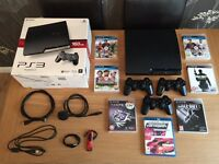 PS3 SLIMLINE 160GB (3 PADS,6 GAMES, HEADSET)