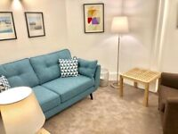 Consulting room for talking therapies in London, Soho