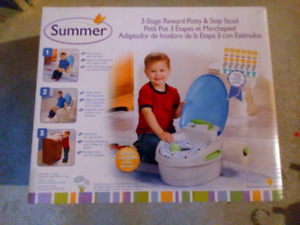 Summer potty and step stool, almost new