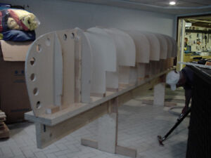 Strongback + Moulds for Building Cedarstrip Canoe
