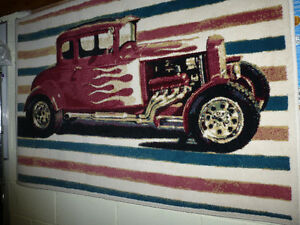 mancave rugs auto themed