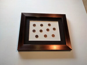 INDIAN HEAD USA PENNIES FRAMED