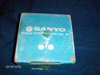 VINTAGE SANYO NATIONAL DYNAMO LIGHTING SET-BICYCLES-1980S-RARE!