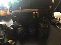 Nikon D5100 DSLR Camera with 50mm f1.8 lens and Bag