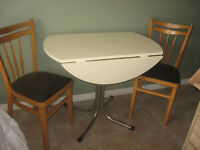 2 & 4 chair table set=table no chair