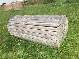 Wooden garbage or storage box