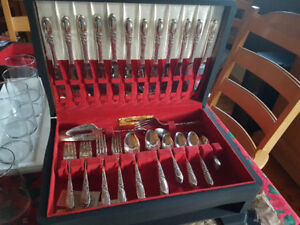 Oneida White Orchid Silver Plated Flatware
