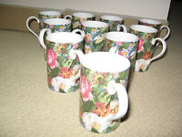 Dunoon Fine Bone Mixed Floral Mugs (10)