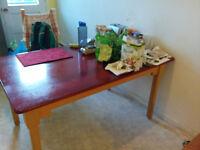 Table de cuisine, avec rallonges