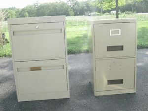 Two-drawer legal size file cabinet