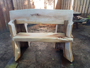 Benches and wood slabs for sale and trade