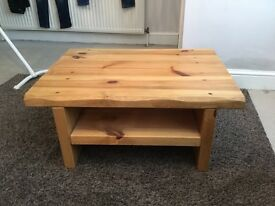Solid wood coffee/TV table