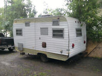 18 foot camper project parts or hunting camp REDUCED 350 TODAY