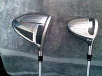 Adams Driver & 3 wood with head covers.