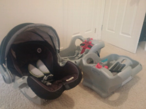 Graco SnugRide 35 car seat with two (2) bases