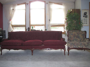 Re upholstery  Antique Sofa and Chair Strathcona County Edmonton Area image 2