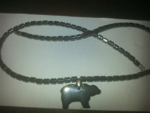 Black pearl  necklace from Alaska