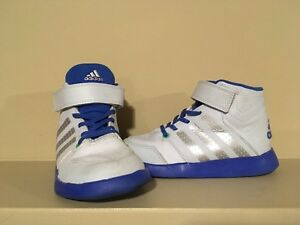ADIDAS Boy's Size 9 Ortholite High-Top Sneakers