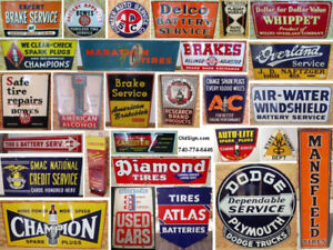 Vintage Gas and Oil and Tire Signs Wanted