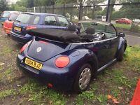 04 plate Volkswagen Beetle convertible 1.9 DIESEL motd till 5/5/17